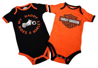 Harley-Davidson Baby Boys' Daddy Rides A Harley Creeper 2-Pack 1153042 - Wisconsin Harley-Davidson
