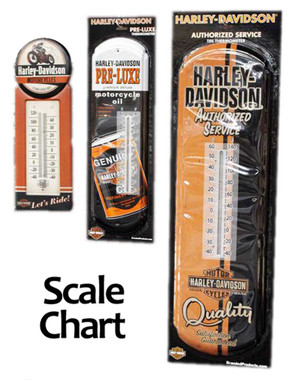 Harley-Davidson Authorized Service Tin Thermometer, 8 W x 26.75 H HDL-10093 - Wisconsin Harley-Davidson