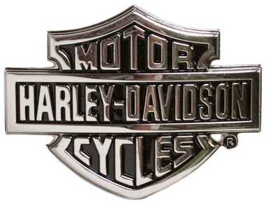 Harley-Davidson Men's Chrome Bar & Shield Logo Belt Buckle HDMBU10615 - Wisconsin Harley-Davidson