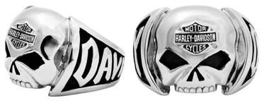 Harley-Davidson Men's Skull Ring Stainless Steel HSR0004 - Wisconsin Harley-Davidson