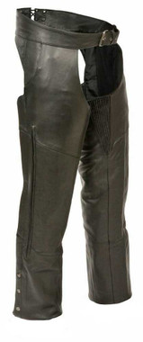Milwaukee Leather Men's Vented Jean Pocket Chaps w/ Thigh Stretch ML1129 - Wisconsin Harley-Davidson