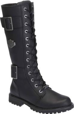 Harley-Davidson Women's Belhaven Knee-Hi Black or Brown Leather Boots. D87082 - Wisconsin Harley-Davidson