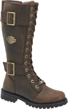 Harley-Davidson Women's Belhaven Knee-Hi Black or Brown Leather Boots. D87082 - Wisconsin Harley-Davidson