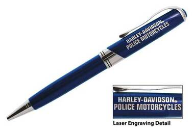 Harley-Davidson H-D Police Executive Writing Pen, Metal Twist WN126948 - Wisconsin Harley-Davidson