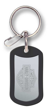 Harley-Davidson Bar & Shield Metal Rubber Tag Key Chain P4286 - Wisconsin Harley-Davidson