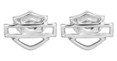 Harley-Davidson Women's Bar & Shield Outline Earrings HDE0193 - Wisconsin Harley-Davidson