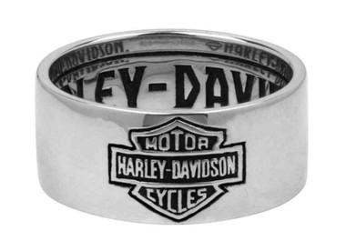 Harley-Davidson Men's Ring, Classic Bar & Shield Logo Band, Silver HDR0264 - Wisconsin Harley-Davidson