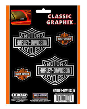 Harley-Davidson Bar & Shield 4-Piece Decal Set Stickers CG99066 - Wisconsin Harley-Davidson
