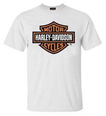 Harley-Davidson Men's Bar & Shield Logo Crew-Neck Cotton T-Shirt - White - Wisconsin Harley-Davidson