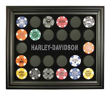 Harley-Davidson Poker Chip Collectors Frame. 6927 - Wisconsin Harley-Davidson