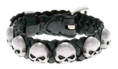 Harley-Davidson Men's Muerto Cuff, Repeated Antique Willie G Skull, HDMCU10788 - Wisconsin Harley-Davidson