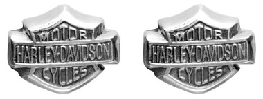 Harley-Davidson Women's Bar & Shield Sterling Silver Post Earrings HDE0085 - Wisconsin Harley-Davidson
