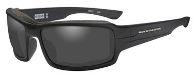 Harley-Davidson Men's Cruise 2 Gasket Sunglasses, Gray Lens/Black Frames HACRS01 - Wisconsin Harley-Davidson