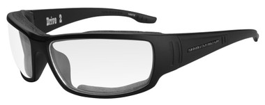 Harley-Davidson Men's Drive 2 Gasket Sunglasses, Clear Lens/Black Frames HADRI03 - Wisconsin Harley-Davidson