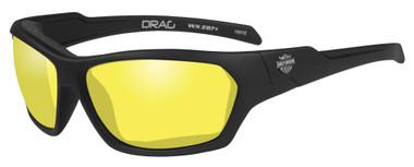 Harley-Davidson Men's Drag Gasket Sunglasses, Yellow Lens / Black Frames HADRA13 - Wisconsin Harley-Davidson