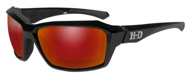 Harley-Davidson Men's Cannon Gasket Sunglasses, Red Mirror Lenses HACNN11 - Wisconsin Harley-Davidson