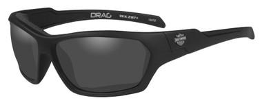 Harley-Davidson Men's Drag Gasket Sunglasses, Gray Lens / Black Frames HADRA01 - Wisconsin Harley-Davidson