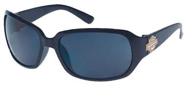 Harley-Davidson Women's Sun Lifestyle Black w/ Grey Lens Sunglasses HDS5006BLK-3 - Wisconsin Harley-Davidson