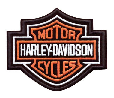 Harley-Davidson Bar & Shield Patch, 9-1/4'' W x 7-11/16'' H EMB302386 - Wisconsin Harley-Davidson