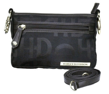 Harley-Davidson Women's Hip Bag, HD Jacquard, Black Cotton Purse  HD3492J-Black - Wisconsin Harley-Davidson