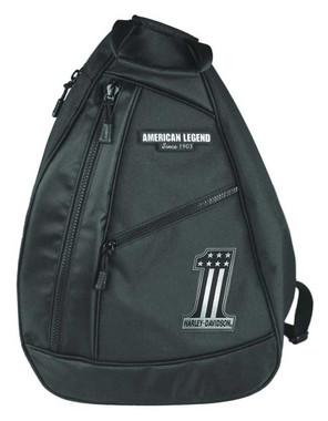 Harley-Davidson Men's #1 Tonal RWB Sling Backpack - Black BP2067S-Black - Wisconsin Harley-Davidson