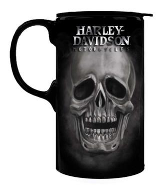 Harley-Davidson Tall Boy Travel Latte Mug, H-D Skull, Gift Box Set 3TBT4906 - Wisconsin Harley-Davidson