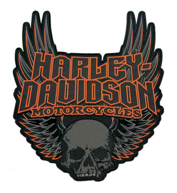 Harley-Davidson Gothic Winged Skull Embroidered Emblem, 3XL Size Patch EM108307 - Wisconsin Harley-Davidson