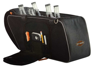 Harley-Davidson Saddlebag Utility Tote Cooler, Bar & Shield Logo, Black 439-02 - Wisconsin Harley-Davidson