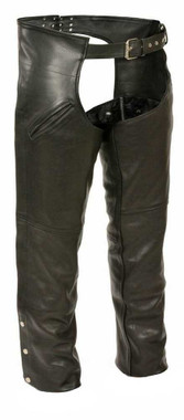 Milwaukee Leather Men's Slash Pocket Chaps w/ Removable Thermal Liner SH1103 - Wisconsin Harley-Davidson