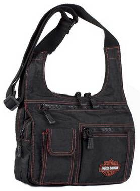 Harley-Davidson Womens Rally Ride Traveller Bag RL7279S-ORGBLK - Wisconsin Harley-Davidson