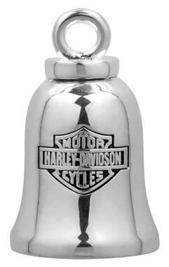 Harley-Davidson Silver Classic Bar & Shield Logo Ride Bell HRB013 - Wisconsin Harley-Davidson