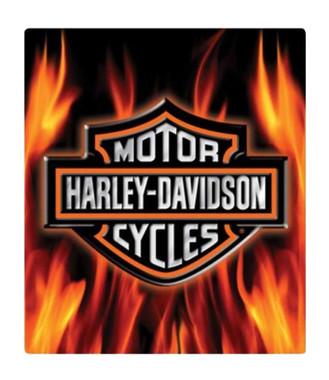 Harley-Davidson Embossed Flaming Bar & Shield Logo Tin Sign, 13 x 15 in 2011291 - Wisconsin Harley-Davidson