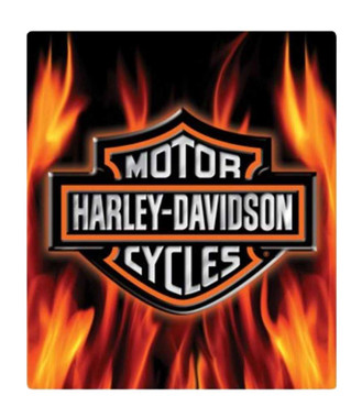 Harley-Davidson Embossed Flaming Bar & Shield Logo Tin Sign, 13 x 15 in 2011291 - Wisconsin Harley-Davidson