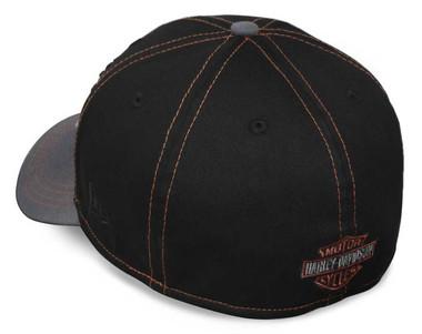 Harley-Davidson Men's Colorblocked 39THIRTY Baseball Cap, Black 99446-16VM - Wisconsin Harley-Davidson