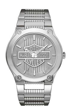 Harley-Davidson Men's Bulova Bar & Shield Wrist Watch 76A134 - Wisconsin Harley-Davidson