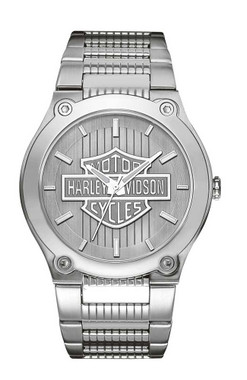 Harley-Davidson Men's Bulova Bar & Shield Wrist Watch 76A134 - Wisconsin Harley-Davidson