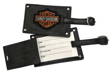 Harley-Davidson Bar & Shield Belted Luggage Tags Leather 99301 - Wisconsin Harley-Davidson