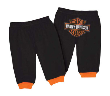 Harley-Davidson Baby Boys' Interlock Bar & Shield Logo Pants, Black 4050601 - Wisconsin Harley-Davidson