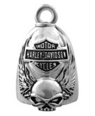 Harley-Davidson Winged Skull Bar & Shield Ride Bell HRB038 - Wisconsin Harley-Davidson