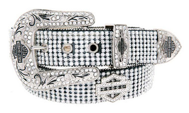 Harley-Davidson Women's Embellished Crystal Saturday Night Belt HDWBT10044 - Wisconsin Harley-Davidson