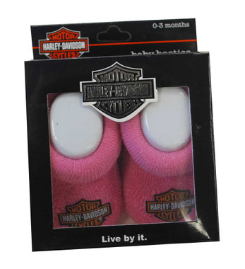 Harley-Davidson Baby Boys Boxed Stretch Terry Booties Black S9LBL20HD 0//3M