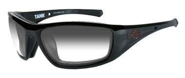 Harley-Davidson Men's Tank Sunglasses, Copper Lens/Glass Black Frame HDTAN08 - Wisconsin Harley-Davidson