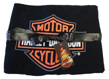 Harley-Davidson Baby Boys' Bar & Shield Receiving Blanket, Black/Orange 0150096 - Wisconsin Harley-Davidson