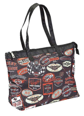 Harley-Davidson Vintage Collection Shopper Tote, Strong/Lightweight, 99914-VIN - Wisconsin Harley-Davidson