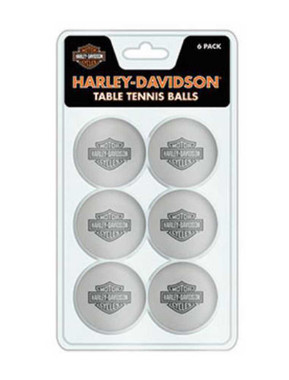 Harley-Davidson Table Tennis Ball Set - 6 Balls HDL-13705 - Wisconsin Harley-Davidson