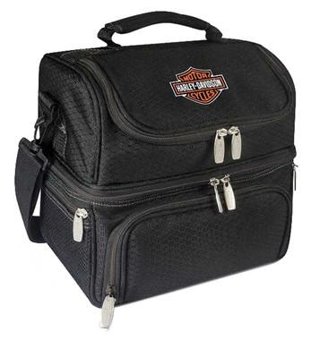 Harley-Davidson Pranzo Personal Cooler, Bar & Shield Logo, Black 512-80 - Wisconsin Harley-Davidson