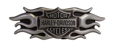 Harley-Davidson Men's Inspiration Flaming Bar & Shield Belt Buckle HDMBU10661 - Wisconsin Harley-Davidson