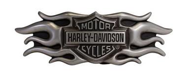 Harley-Davidson Men's Buckle, Inspiration Flaming Bar & Shield Buckle HDMBU10661 - Wisconsin Harley-Davidson