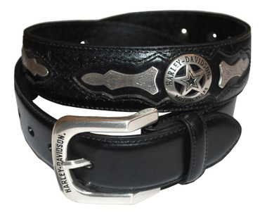 Harley-Davidson Mens Deputy Leather Belt HDMBT10006 - Wisconsin Harley-Davidson