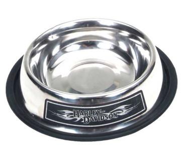 Harley-Davidson Stainless Steel Dog Bowl 16oz. Skid-Proof Bottom H8516-SSL16 - Wisconsin Harley-Davidson